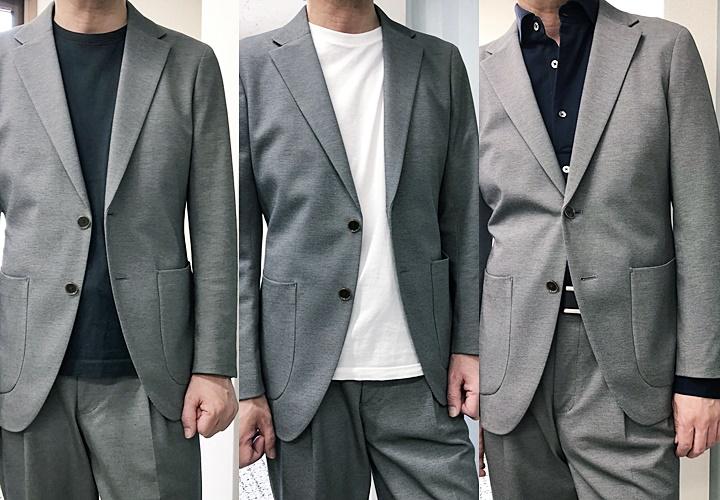 メンズセットアップコーデ,グレースタイル,ブラックカットソー,白カットソー,ネイビーシャツ