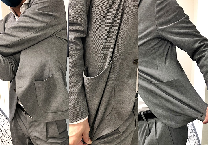 メンズセットアップスーツ,ストレッチ性,ジャケット
